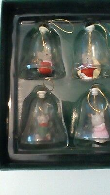 Set of 4 mice Christmas bell decorations