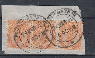 India 1938 An Interesting 2a 6p Piece With Good Flower Bazaar Use SG207