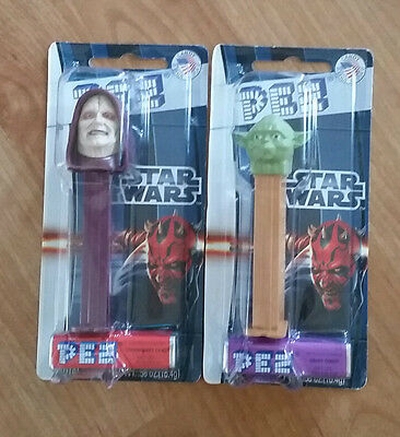 Star Wars Pez Yoda and Palpatine New Collectable