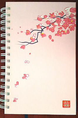 New Witch's Grimore Book of Shadows Journal Wicca Pagan Japanese Cherry Blossom