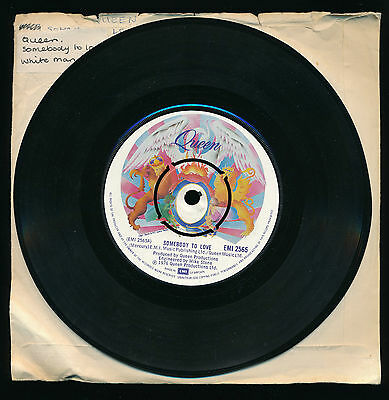 """QUEEN - Somebody To Love / White Man - 7"""" 45 rpm single"""