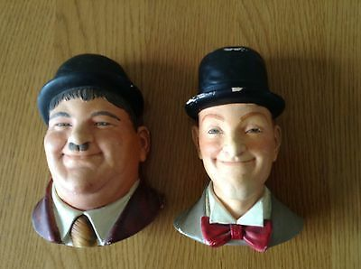 "2 Chalk head,  LEGEND ""Made in England 1984, Laurel & Hardy. Rare"