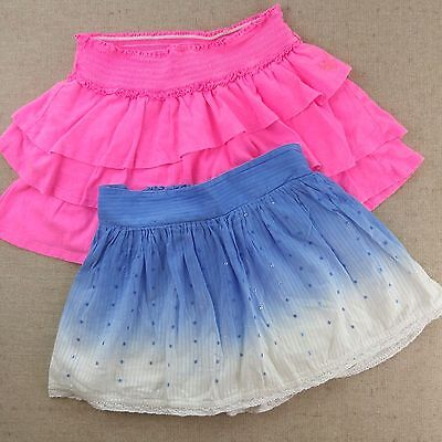 Justice Lot of 2 Skorts Pink and Blue Tie- Dye Sequins Girls Size 12-14
