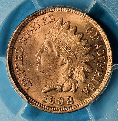 1908 Indian Head Cent PCGS MS64RD- Sharp, Nice Eye Appeal