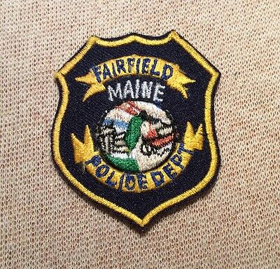 ME Fairfield Maine Police Patch (Hat Sz)
