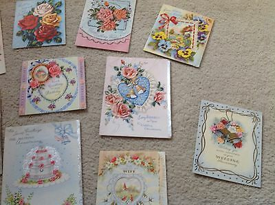 Job lot 32 vintage 1950's birthday and Wedding Anniversary cards