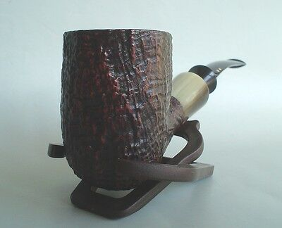 Savinelli Made In Italy Nonpareil 9101 Sandblasted Briar Pipe New Unsmoked
