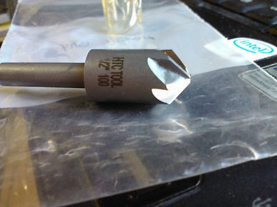 "1/2"" 100degree 6 Flute HIGH SPEED STEEL CHATTERLESS COUNTERSINK"