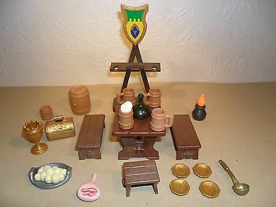 PLAYMOBIL KNIGHTS FURNITURE (For castle,medieval spares,throne,table)