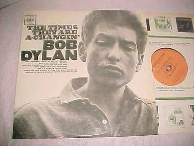 "Bob Dylan ""the Times They Are A-Changin'""italian First Press Mono,mint Lp"