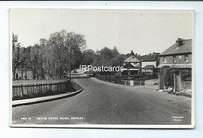 Vintage Frith's real photo postcard ~ Grove Cross Road ~ Frimley
