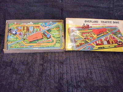RARE VINTAGE CRAGSTAN  OVERLAND TRAFFIC GAME  TOY 1960s