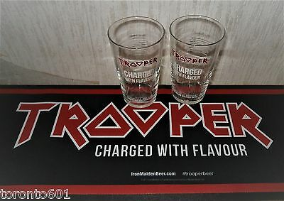Robinsons Trooper Iron Maiden Beer Rubber Bar Runner *NEW**PLUS 2 X PINT GLASSES