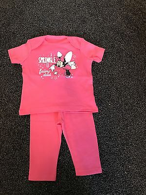Baby Girl Pink Minnie Mouse Pyjamas 6-9 Months