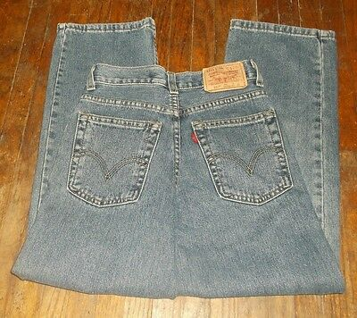 Levi's jeans, 550 Relaxed Fit, little boy size 10 SLIM, red pocket tab
