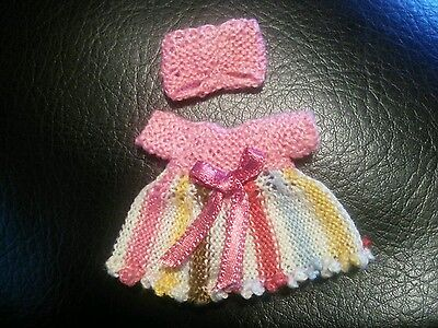 Hand knitted miniature dress(dolls house)