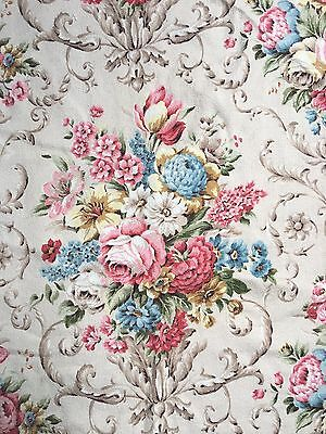 Beautiful Antique Floral Fabric