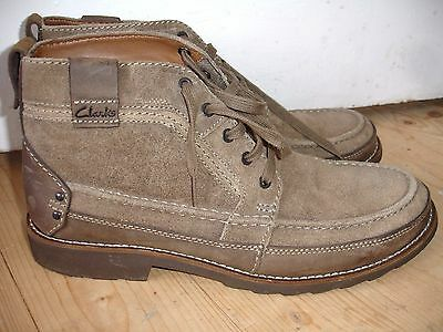 Mens Clarks Quality Casual Smart Ankle Boots Size 11 Worn Only Once, Bargain