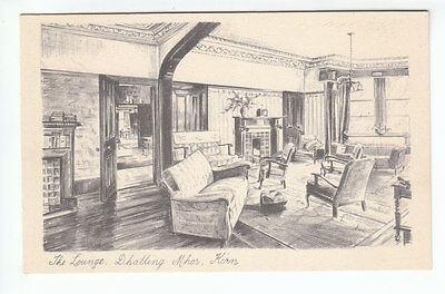 The Lounge Dhalling Mhor Kirn Argyll Pencil Sketch W P Series Old Postcard