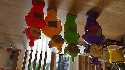Set of 4 vi nyl teletubbies bath toys