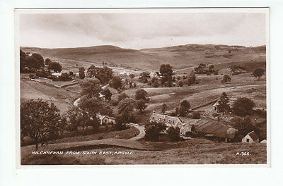 Kilchrenan Village Argyll 1934 Real Photograph Valentines A955 Old Postcard