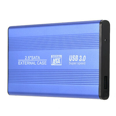 "USB 3.0 HDD SSD SATA External Aluminum 2.5"" Hard Drive Disk Box Enclosure C W0R8"