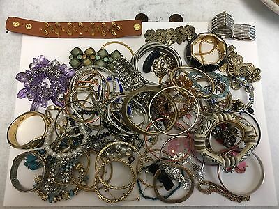 Large Lot Of Misc Bracelets For Scrap, Crafting, Steampunk, Or Resell 3lbs 5.3oz