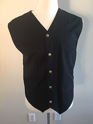 Vintage Versace Jeans Couture Mens Vest With Vine Embroider Cross