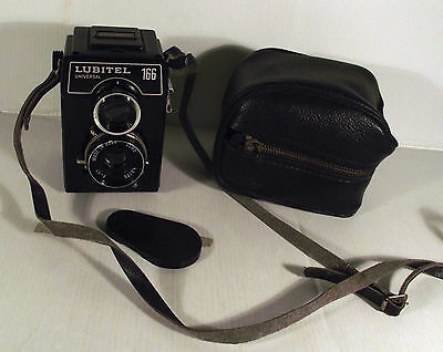 Vintage Russian Lubitel 166 Universal Film Camera + Lens Cover & Case