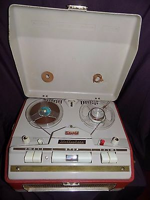 Vintage Stellaphone  Four Track St-454 Reel To Reel Valve Tape Recorder