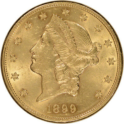US Gold $20 Liberty Head Double Eagle - Almost Uncirculated