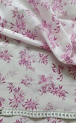 vintage floral fabric 1950's? 2 yards
