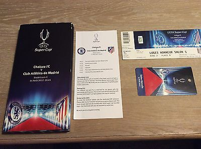 UEFA Super Cup CL Final Ticket Monaco 2012 VIP Box Chelsea vs Atletico