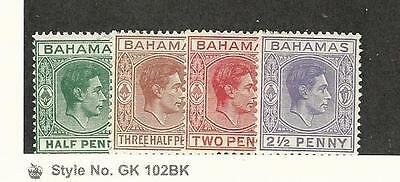 Bahamas, British, Postage Stamp, #100, 102, 103B, 104A Mint NH, 1938