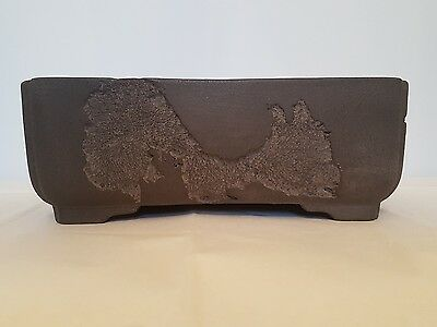 japanese tokaname bonsai pot by yamaaki shousen jyuoudou mushikui rectangle