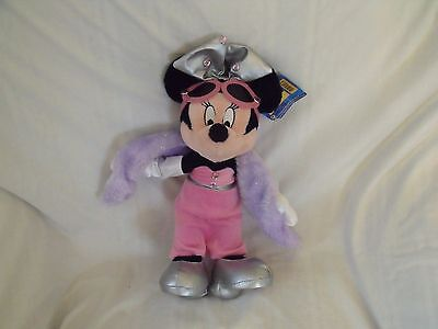 Disneyland Resort Paris, Minnie Mouse Soft / Plush Toy 38 cm high with tag.  T2