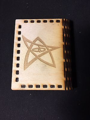 Call of Cthulhu Wooden Gaming Dice Storage Box with Elder Sign Design