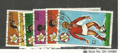 Belize, Postage Stamp, #601-606 Used, 1981 Soccer, Football