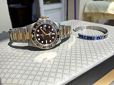 braccialetto come ghiera Rolex GMT Submariner Batman oro fondo scala Bracciale