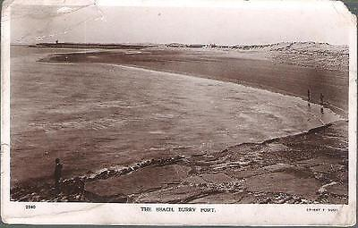 Burry Port, Carmarthenshire - Beach - real photo postcard 1915 (see condition)