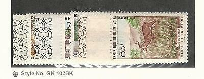 Burkina Faso, Postage Stamp, #97-102 Mint LH, 1962 Animals