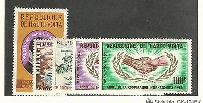 Burkina Faso, Postage Stamp, #C19, C21-C24 Mint Hinged, 1964-54