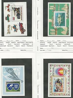 Burkina Faso, Postage Stamp, #C208, C224, C227, C230 Used Sheets, 1975-6