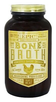 Epic - Artisanal Bone Broth Homestyle Savory Chicken - 14 oz.