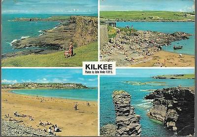 Kilkee, Co. Clare - early John Hinde multiview postcard - 1963 pmk