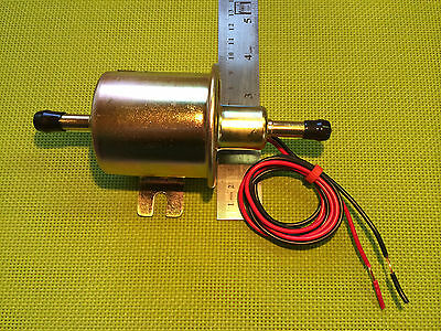 12V Electric Fuel Pump Inline 1/4 - 5/16 Gas / Diesel