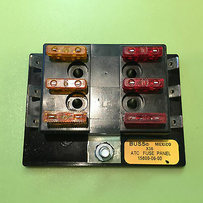 Buss Atc / Ato Medium Fuse Remote Pony Panel Block  & 6 Std. Fuses