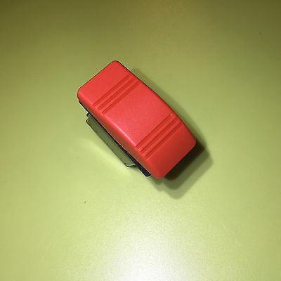 Carling Contura Iii Red  Rocker Switch 12V 20A  Spst  ( On ) Momentary -  Off