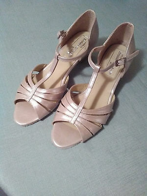 Pearl pink as new ballroom dancing shoes, size 9. World Championship brand,