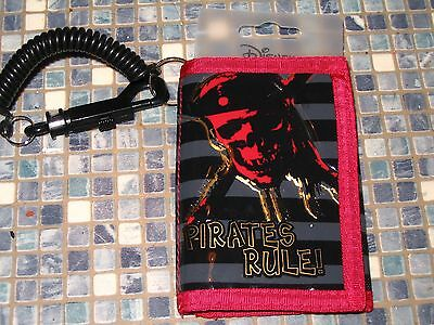 Disney Store Pirates of the Caribbean Pirates Rule Skull Wallet BRAND NEW!